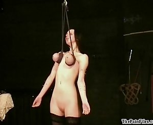 Piercing fetish and extreme bdsm of enslaved Emily X in hardcore bondage