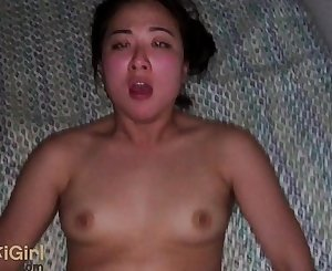 EPIC POV waking up a big ball-sac Asian girl for creampies