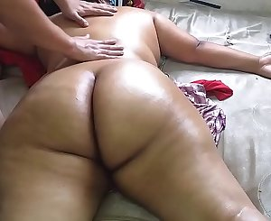 Hire a rubdown service where they finished massaging me naked and enjoy while the masseuse eyed me naked